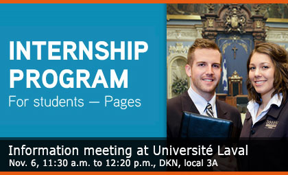Internship program for students Pages - Information meeting
