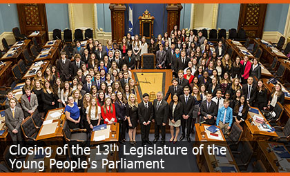 Closing of the 13th Legislature of the Young People's Parliament