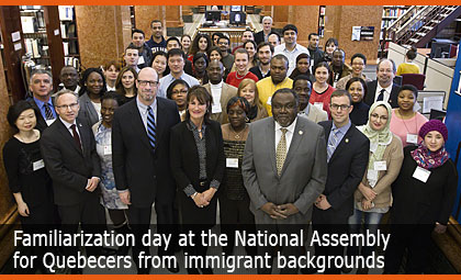 Familiarization day at the National Assembly for Quebecers from immigrant backgrounds