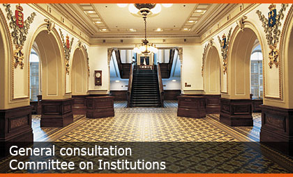 General consultation - Committee on Institutions