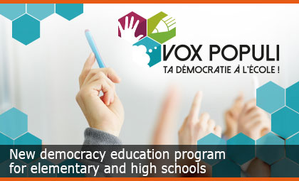 New democracy education program for elementary and high schools