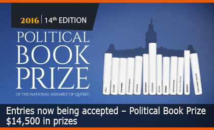 Entries now being accepted – Political Book Prize - $14,500 in prizes