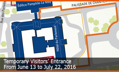 Temporary Visitors' Entrance - From June 13 to July 18, 2016