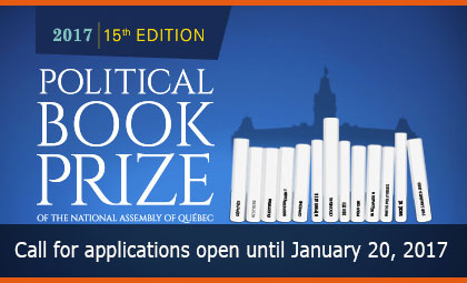 Political Book Prize – Call for applications open until January 20, 2017