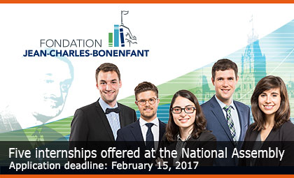 Five internships offered at the National Assembly – Application deadline: February 15, 2017