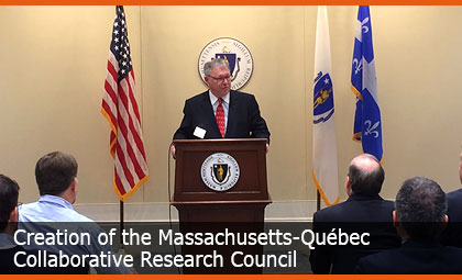 Creation of the Massachusetts-Québec Collaborative Research Council