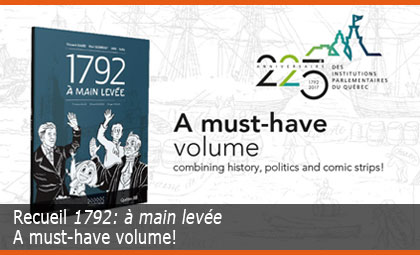 Recueil 1792: à main levée – A must-have volume combining history, politics and comic strips!