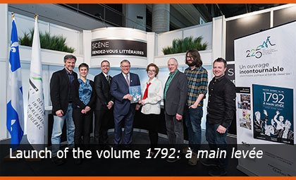Launch of the volume 1792: à main levée