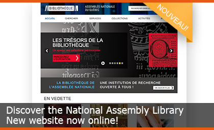 Discover the National Assembly Library - New website now online!