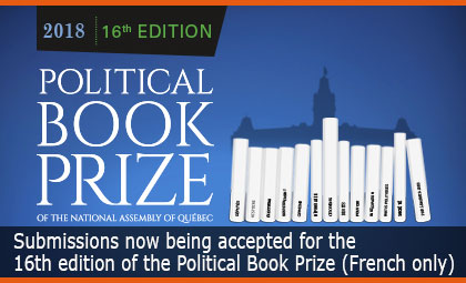 Submissions now being accepted for the 16th edition of the National Assembly's Political Book Prize
