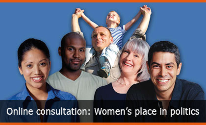Online consultation: Women's place in politics