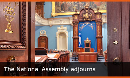 The National Assembly adjourns