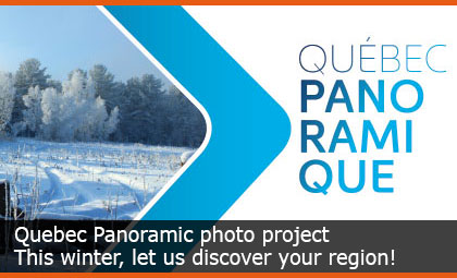 Quebec Panoramic photo project - This winter, let us discover your region!