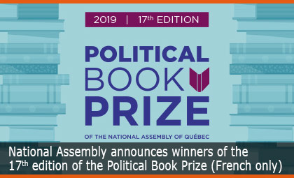 National Assembly announces winners of the 17th edition of the Political Book Prize