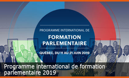 Programme international de formation parlementaire 2019