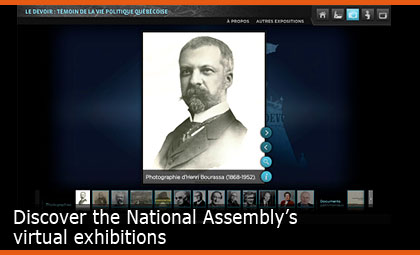 Discover the National Assembly's virtual exhibitions