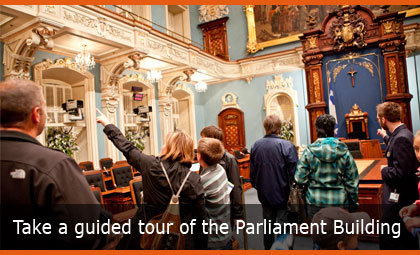 Take a guided tour of the Parliament Building
