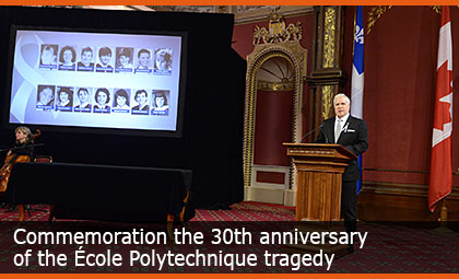 Commemoration the 30th anniversary of the École Polytechnique tragedy