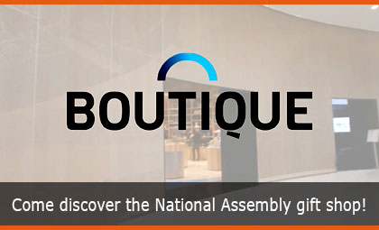Come discover the National Assembly gift shop!