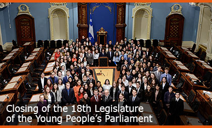 Closing of the 18th Legislature of the Young People's Parliament
