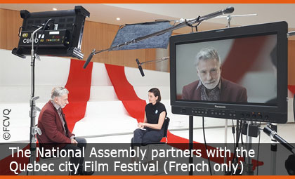 The National Assembly partners with the Quebec city Film Festival