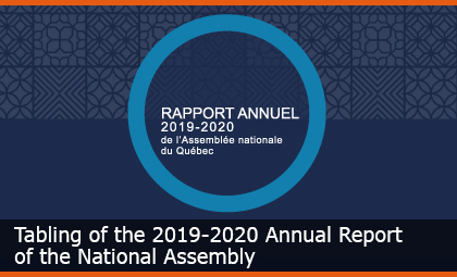 Annual report of the National Assembly - 2019-2020
