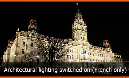 Architectural lighting switched on (French only)