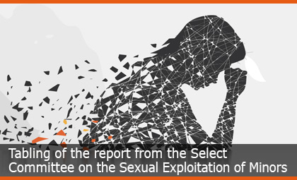 Tabling of the report from the Select Committee on the Sexual Exploitation of Minors