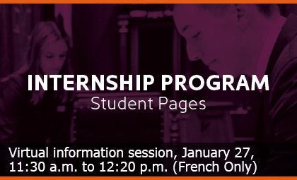 Virtual information session : January 27, 11:30 a.m. to 12:20 p.m. (French Only)