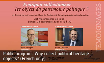 Public program: Why collect political heritage objects?