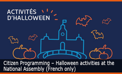 Citizen Programming - Halloween activities at the National Assembly