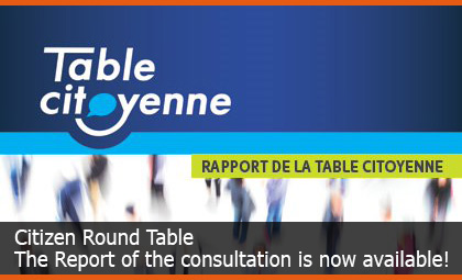 Citizen Round Table - The Report of the consultation is now available!