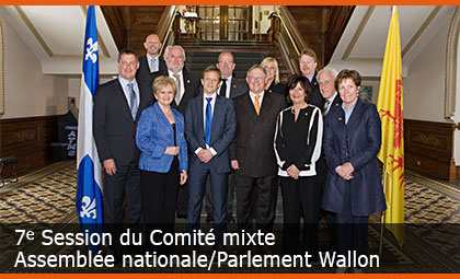7e Session du Comité mixte Assemblée nationale/Parlement Wallon