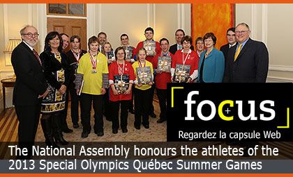 The National Assembly honours the athletes of the 2013 Special Olympics Québec Summer Games