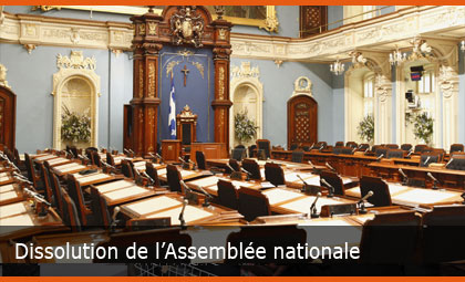 Dissolution de l'Assemblée nationale